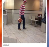 So this guy walked into McDonald…