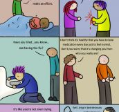 Physical diseases vs. mental illnesses…