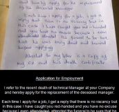 Best application for employment ever…