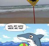 Poor shark…