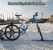 Canadian bicycle…