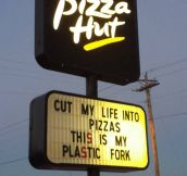 Cut my life into pizzas…