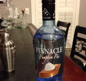 Pumpkin pie flavored vodka…