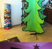 Cartoon Christmas tree…