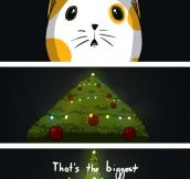 Why cats attack Christmas trees…