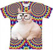 Hipster cat shirt…