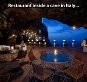 Incredible Italian cave…