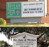 Church sign debates…
