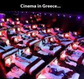 Awesome cinema in Greece…