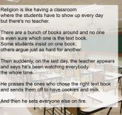 What religion is like…