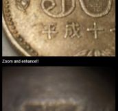 Microprinted coin…