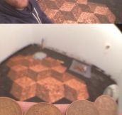 Art with pennies…