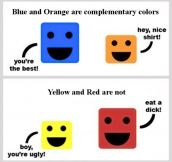 Complementary colors…