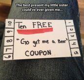 Free coupon…