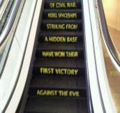 The force is strong with this escalator…