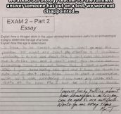 Funniest answer someone has put on a test…