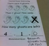 This kid is obviously too advance for conventional teaching methods…