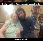 The coolest grandma on earth…