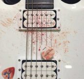 Dave Grohl's guitar…