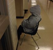 All day in the hallway…
