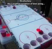 Canadian beer pong…