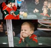 This kid will never forget that moment…