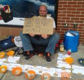 Smartest homeless man ever…