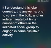 Good answer Siri…
