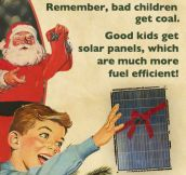 Bad children get coal…