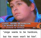 Poor Jorge…