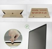 Do It Yourself: Laptop stand made of a pizza box…