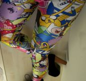 Adventure Time leggings…