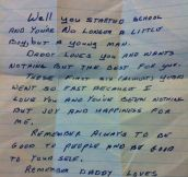A letter from my dad…