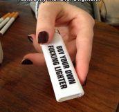 Sharing lighters…