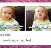 During a math test…