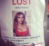 Lost girlfriend…
