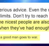 Even the nicest people have their limits…