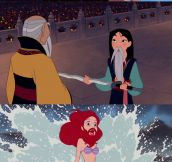 Disney princesses with a new look…
