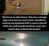 Surprise room…