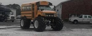 School bus ruining a perfect snow day…