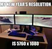 My new year's resolution…