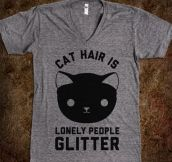 Lonely people glitter…