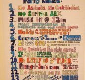 Awesome party rules…