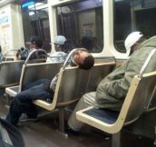 Sleeping in public…