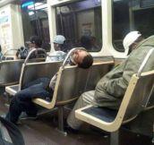 Sleeping in public…