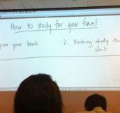 Advice from my teacher…
