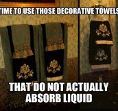 Decorative towels…