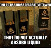 Decorative towels…