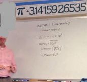 Explaining women problems with maths…