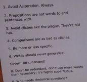 How to write good…